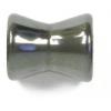 "Hematite 10x12mm Fancy Tube Hour Glass Shape 16""strand"